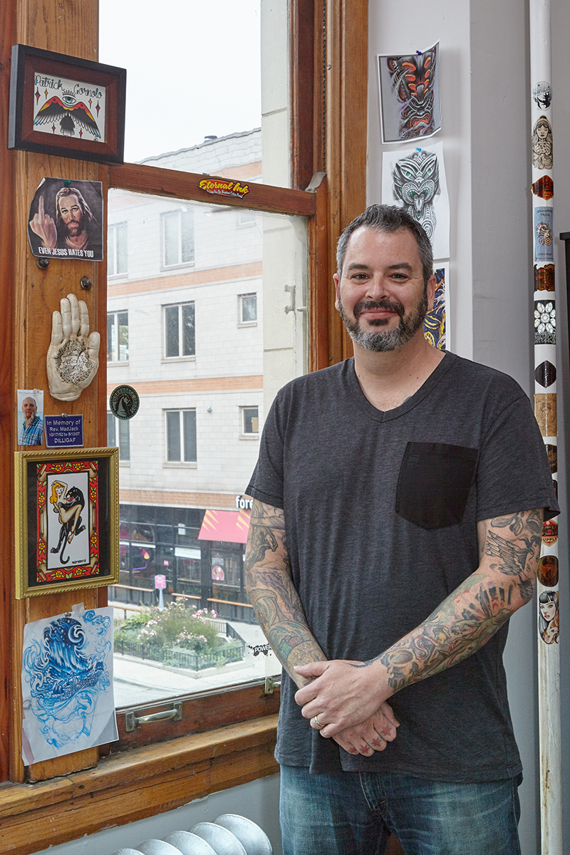 Patrick Cornolo- Chicago tattoo artist, best tattoo artist chicago, chicago tattoo, tattoo near me. Traditional tattoo. Japanese Tattoo, Illustrative tattoo