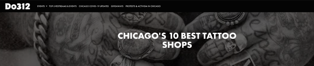 Chicago's 10 Best Tattoo Shops 2020 Do312