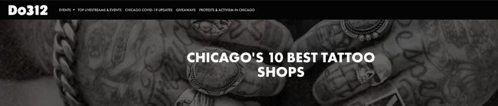 Chicago's 10 Best Tattoo Shops 2020 Do312